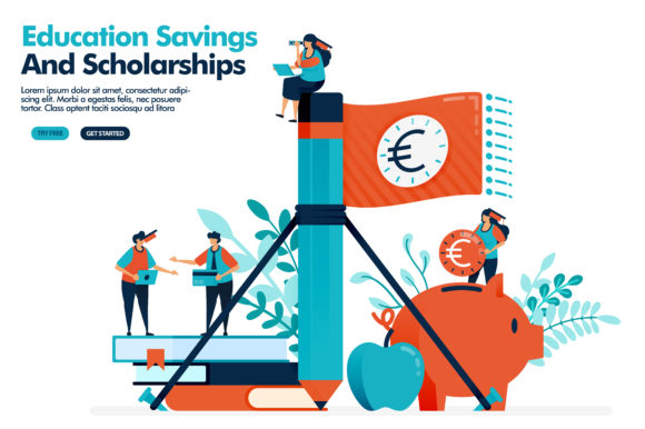 Download Free Illustration Of Educational Scholarship Graphic By for Cricut Explore, Silhouette and other cutting machines.