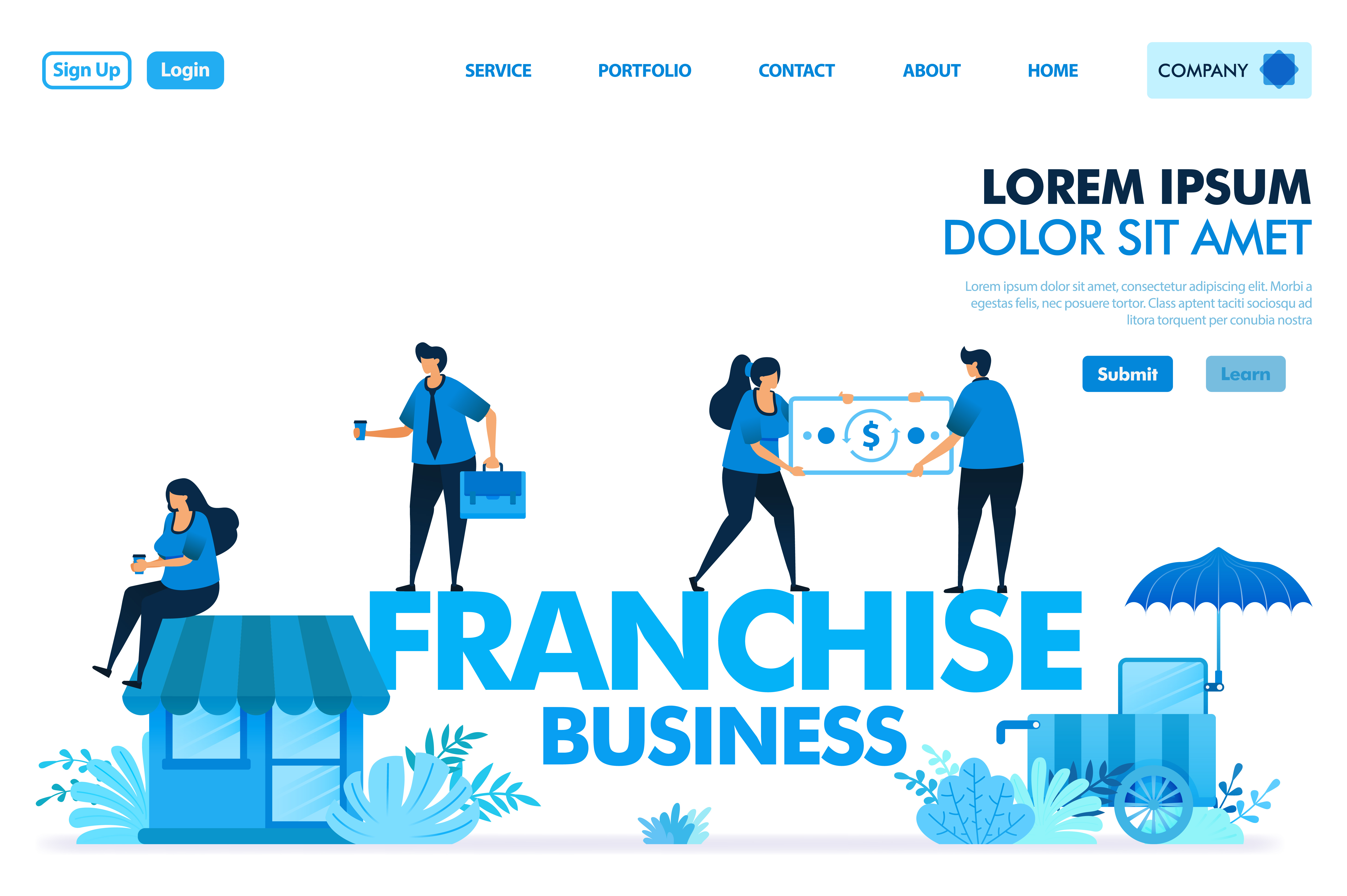 Download Free Illustration Of Franchise Business Graphic By Setiawanarief111 for Cricut Explore, Silhouette and other cutting machines.