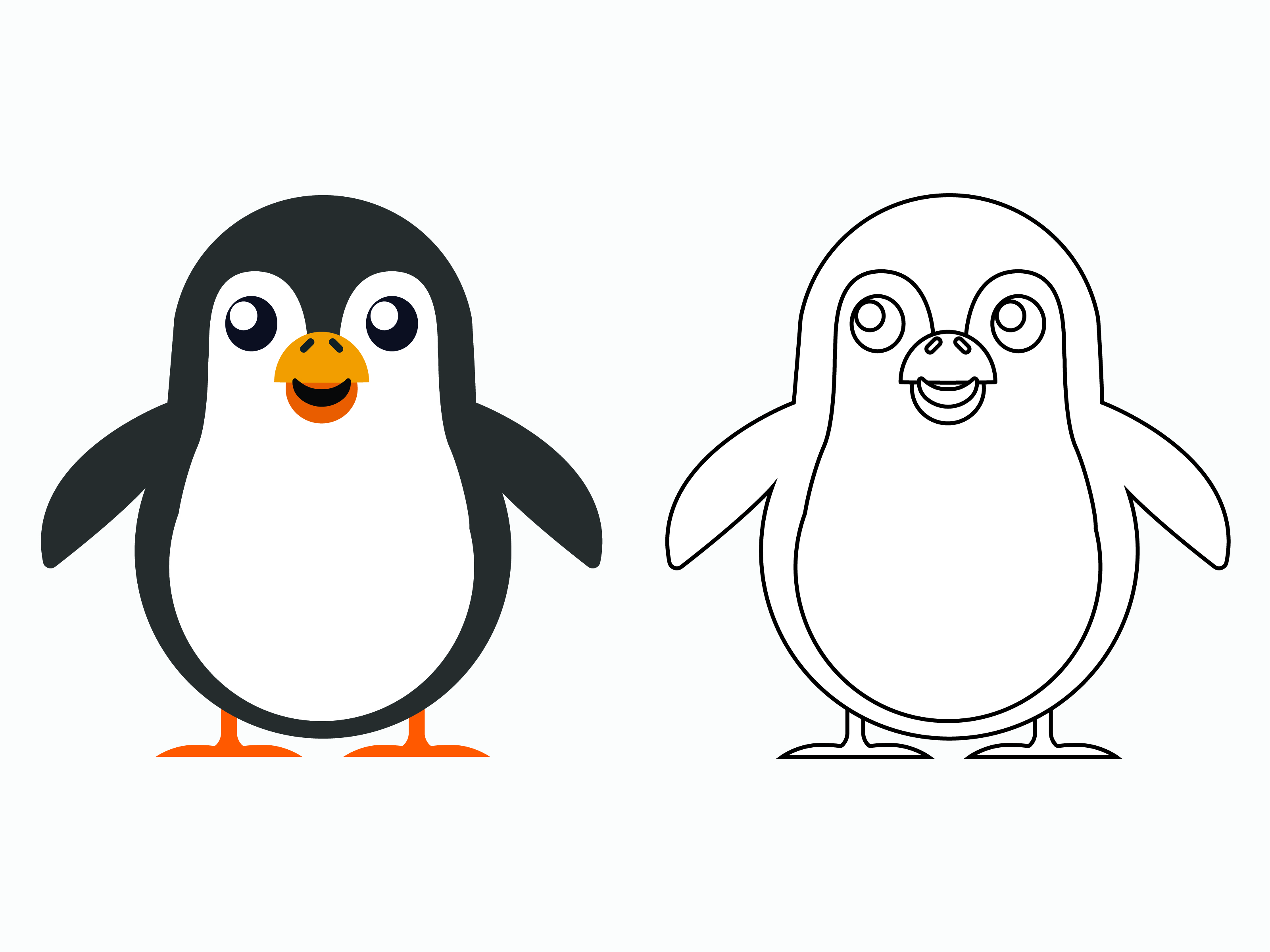 Download Free Penguin Cartoon Vector For Kids Drawing Graphic By 1tokosepatu for Cricut Explore, Silhouette and other cutting machines.