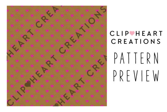 100 Kraft Hearts Pattern Digital Paper Graphic Backgrounds By clipheartcreations - Image 2
