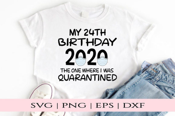 Download Free 24th Birthday Graphic By Kate Studio Creative Fabrica for Cricut Explore, Silhouette and other cutting machines.
