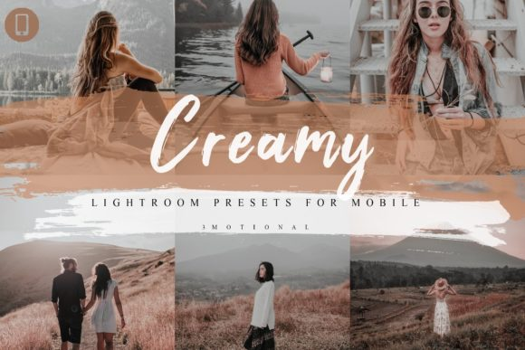 Print on Demand: 5 Creamy Mobile Lightroom Presets Graphic Actions & Presets By 3Motional