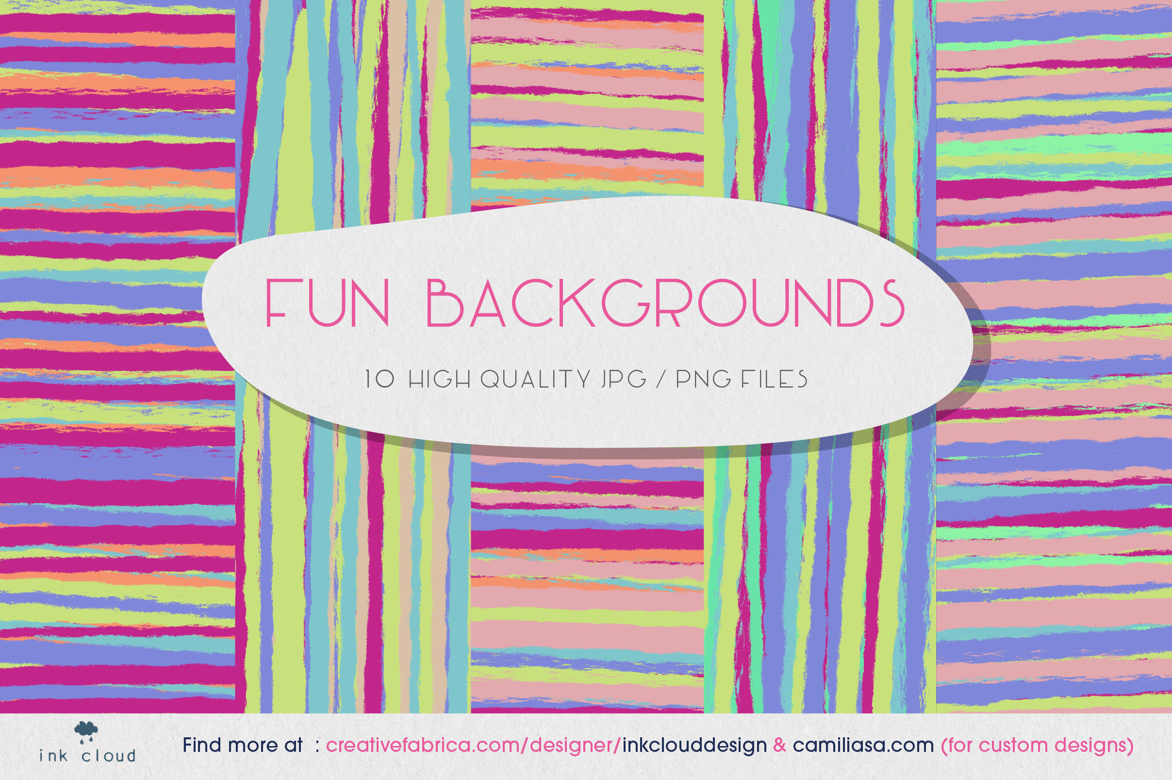 Download Free 5 Texture Background Colorful Prints Graphic By Inkclouddesign Creative Fabrica for Cricut Explore, Silhouette and other cutting machines.