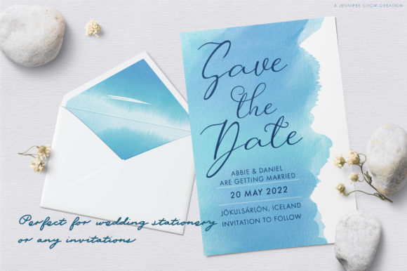 Download Free Abstract Watercolor Blue Lagoon Graphic By Jennifer Chow for Cricut Explore, Silhouette and other cutting machines.