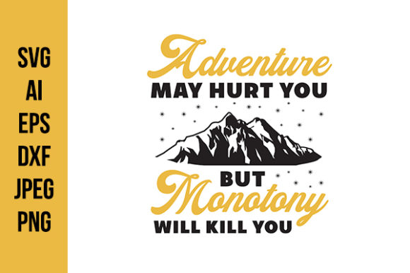 Print on Demand: Adventure Quotes Graphic Crafts By Tosca Digital - Image 1