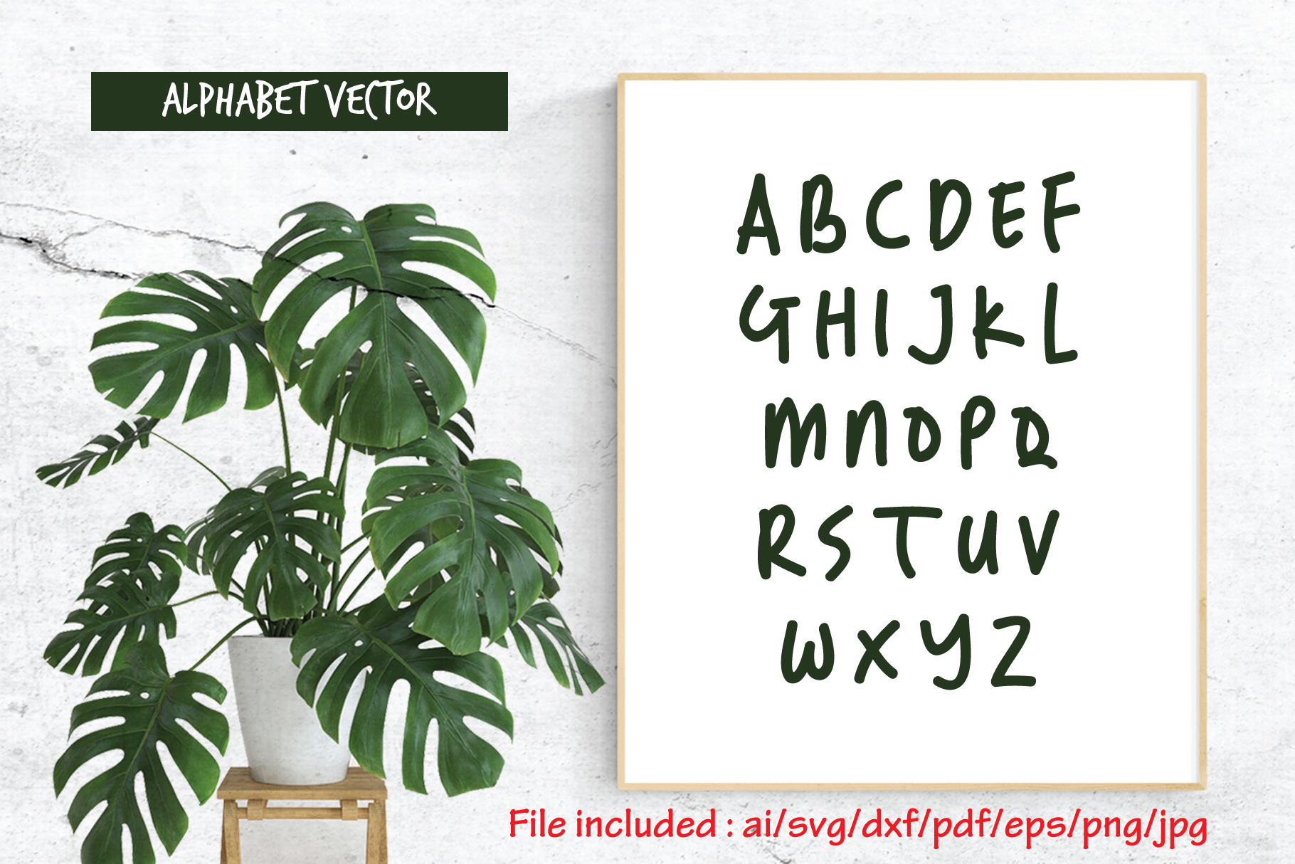 Download Free Alphabet Vector 27 Random Handwritten Graphic By Atjcloth for Cricut Explore, Silhouette and other cutting machines.