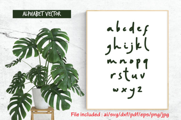 Download Free Alphabet Vector 28 Random Handwritten Graphic By Atjcloth for Cricut Explore, Silhouette and other cutting machines.