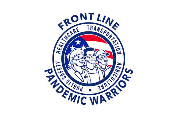 Download Free American Front Line Pandemic Warriors Graphic By Patrimonio for Cricut Explore, Silhouette and other cutting machines.