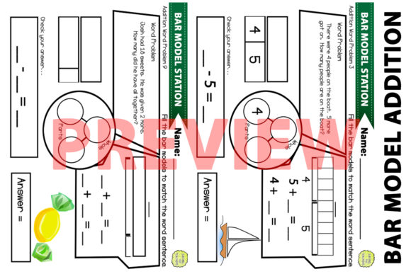 Download Free Bar Model Addition Problems Worksheets Graphic By Saving The for Cricut Explore, Silhouette and other cutting machines.