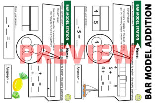 Bar Model Addition Problems Worksheets Graphic 1st grade By Saving The Teachers