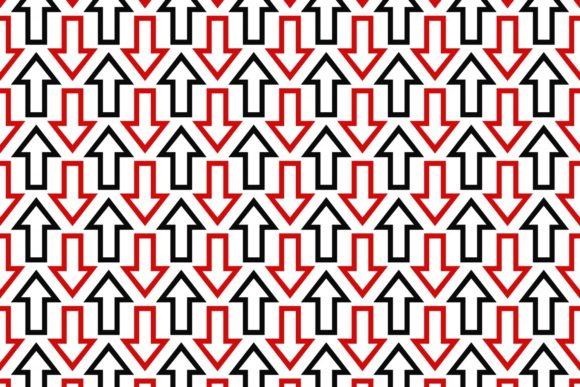 Black Red Seamless Arrow Pattern Graphic Patterns By davidzydd