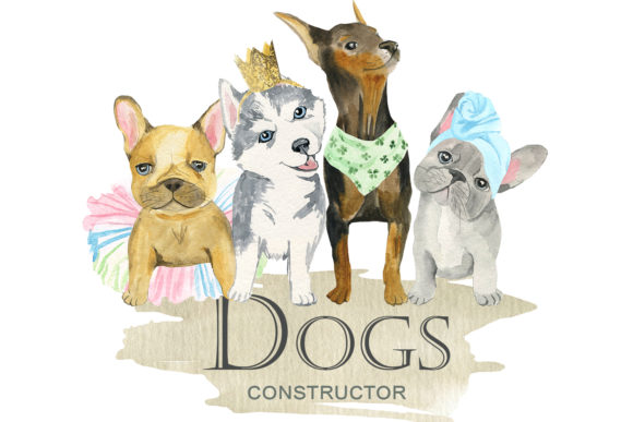 Print on Demand: Dogs Constructor Graphic Illustrations By laffresco04 - Image 1