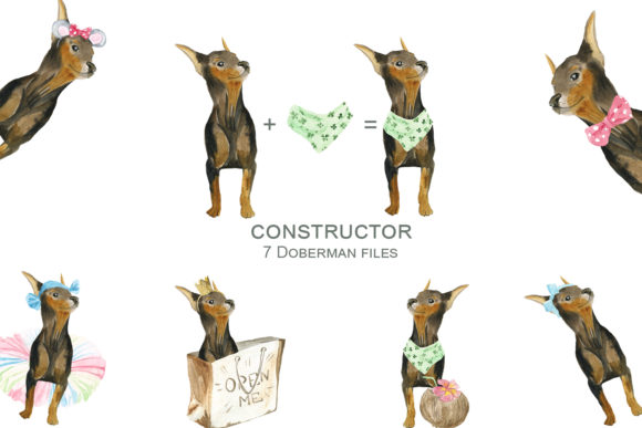 Print on Demand: Dogs Constructor Graphic Illustrations By laffresco04 - Image 3