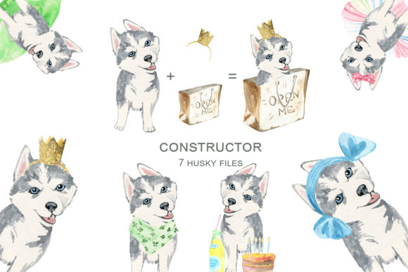 Print on Demand: Dogs Constructor Graphic Illustrations By laffresco04 - Image 4