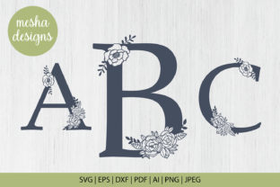 Download Free Floral Letters A To Z Paper Cut Files Graphic By Diycuttingfiles Creative Fabrica for Cricut Explore, Silhouette and other cutting machines.
