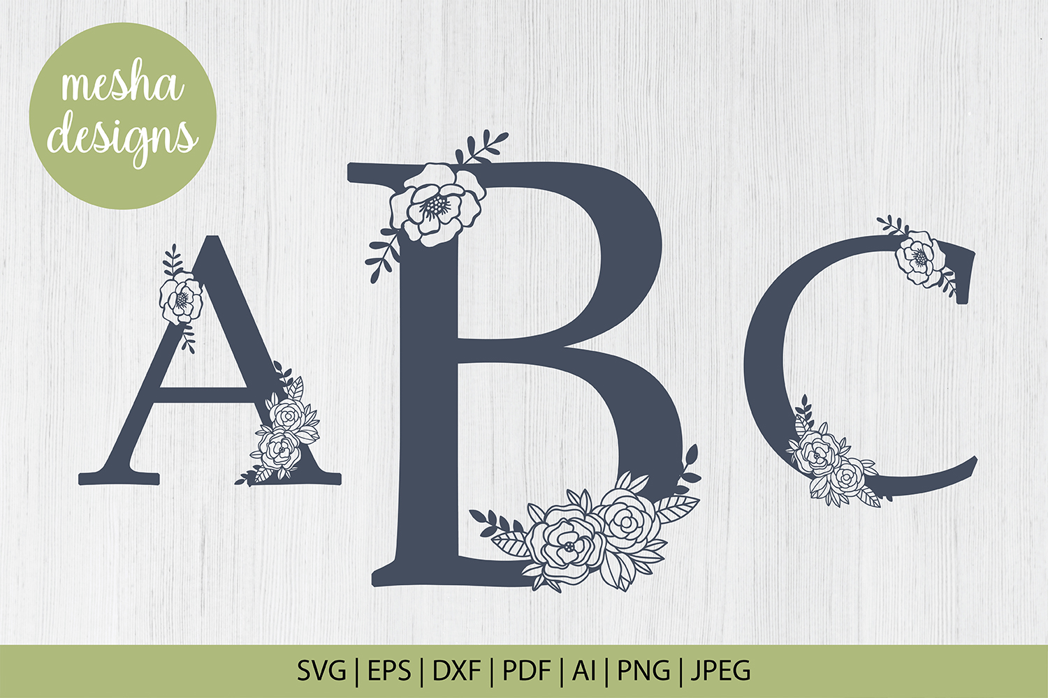 Download Free Floral Letters A To Z Paper Cut Files Graphic By Diycuttingfiles for Cricut Explore, Silhouette and other cutting machines.
