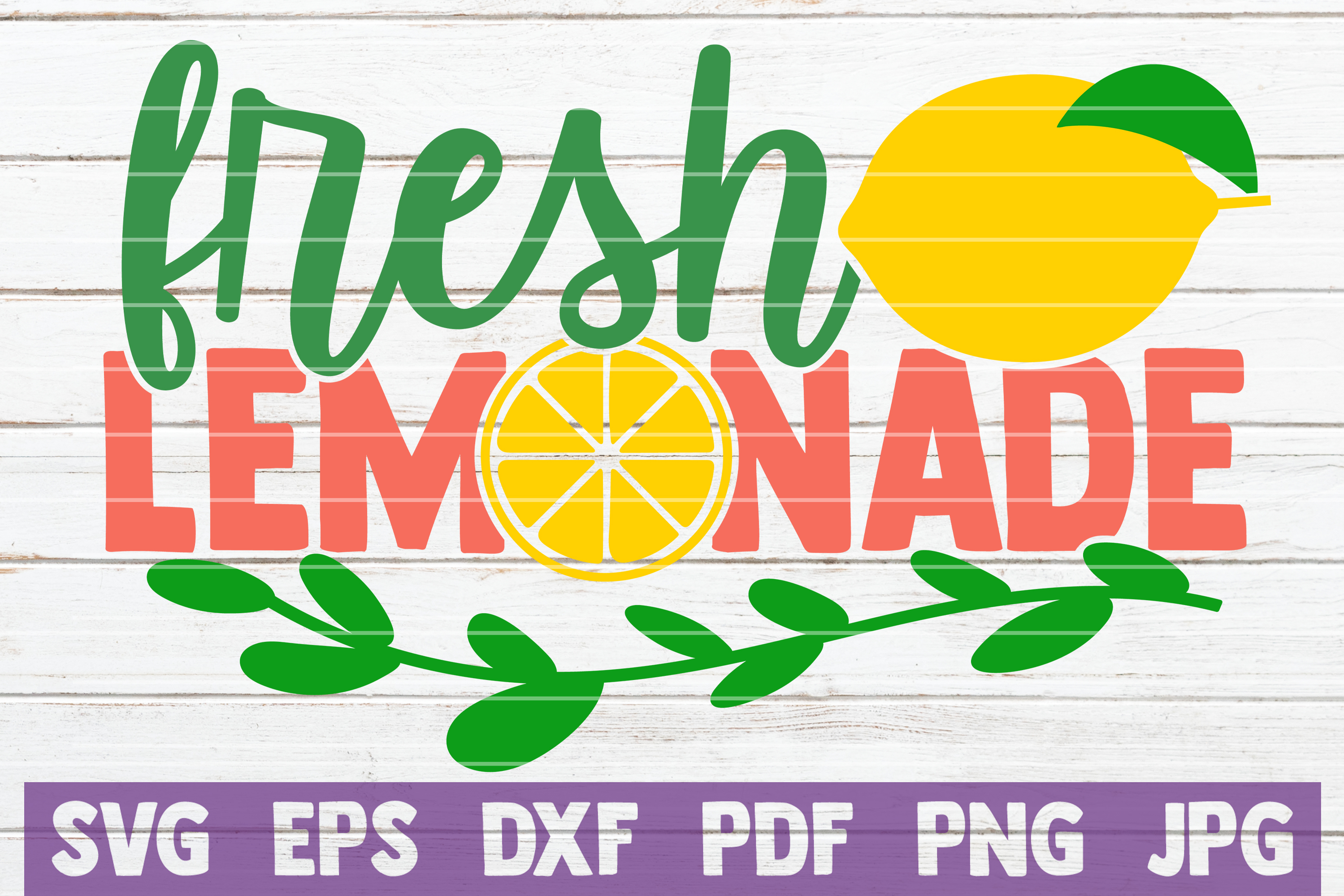Download Free Fresh Lemonade Graphic By Mintymarshmallows Creative Fabrica for Cricut Explore, Silhouette and other cutting machines.