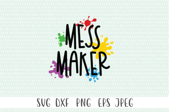 Download Free Funny Kids Mess Maker Graphic By Simply Cut Co Creative Fabrica for Cricut Explore, Silhouette and other cutting machines.