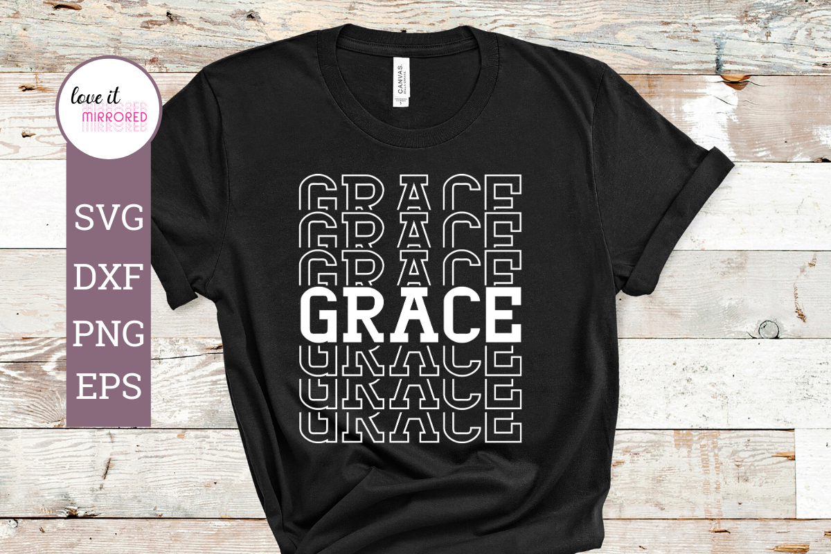 Download Free Grace Mirror Word Cut File Graphic By Love It Mirrored for Cricut Explore, Silhouette and other cutting machines.
