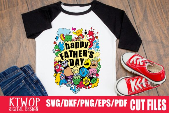 Print on Demand: Happy Father's Day Graphic Crafts By KtwoP - Image 1