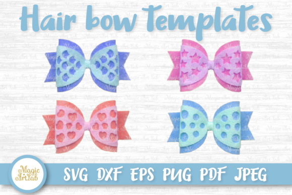 Download Free Hair Bow Graphic By Magicartlab Creative Fabrica for Cricut Explore, Silhouette and other cutting machines.