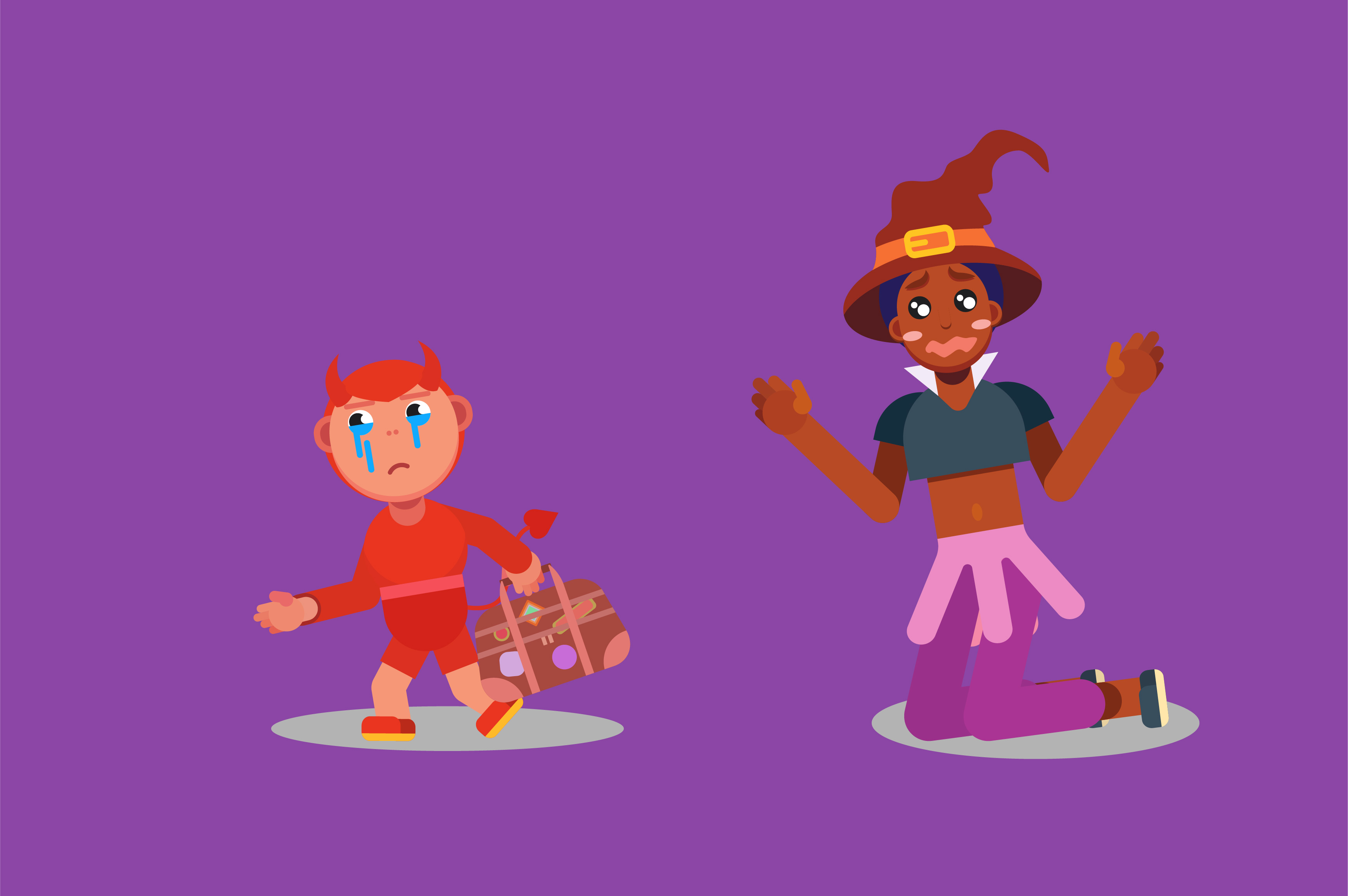 Download Free Halloween Characters Vector Illustration Graphic By Altumfatih Creative Fabrica for Cricut Explore, Silhouette and other cutting machines.