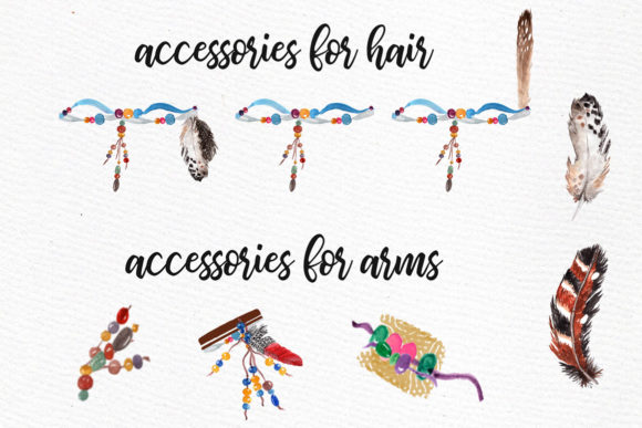 Hippie Girls Clipart Bohemian Girls Graphic Illustrations By LeCoqDesign - Image 4