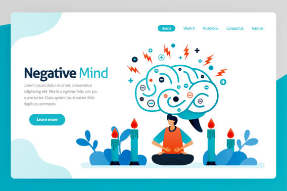 Download Free Illustration Of Negative Mind Graphic By Setiawanarief111 for Cricut Explore, Silhouette and other cutting machines.