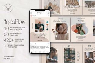Print on Demand: #InstaFlow - Instagram Carousel Post Template Graphic Websites By SilverStag