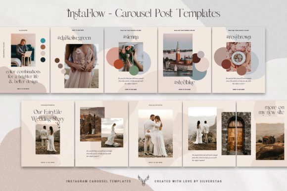 Download Free Instaflow Instagram Carousel Post Template Graphic By for Cricut Explore, Silhouette and other cutting machines.