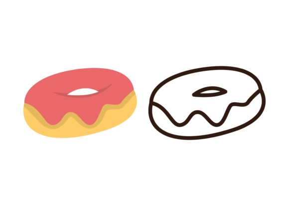 Print on Demand: Kids Coloring Donut Graphic Illustrations By studioisamu