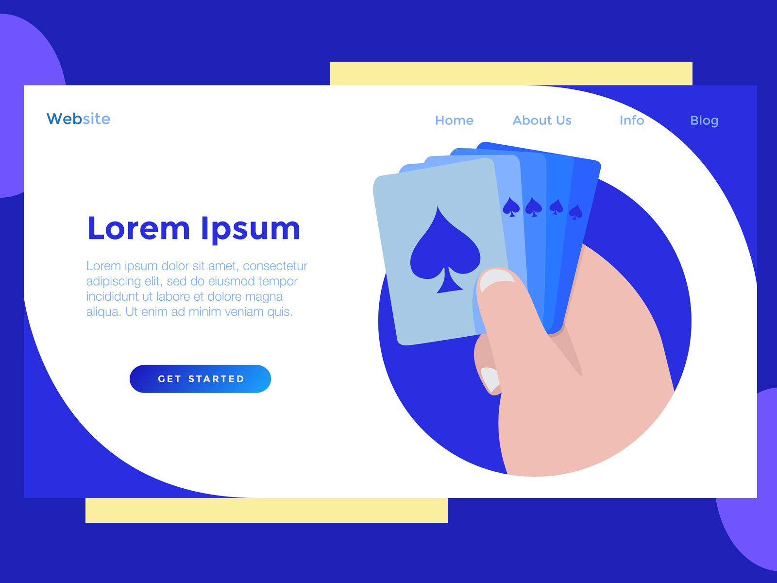 Download Free Landing Page Milenial Card Blue Graphic By Archshape Creative for Cricut Explore, Silhouette and other cutting machines.