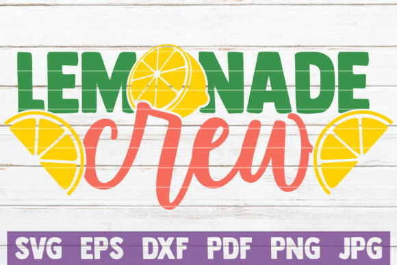 Download Free Lemonade Crew Graphic By Mintymarshmallows Creative Fabrica for Cricut Explore, Silhouette and other cutting machines.