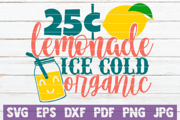 Lemonade Ice Cold Organic Graphic Crafts By MintyMarshmallows