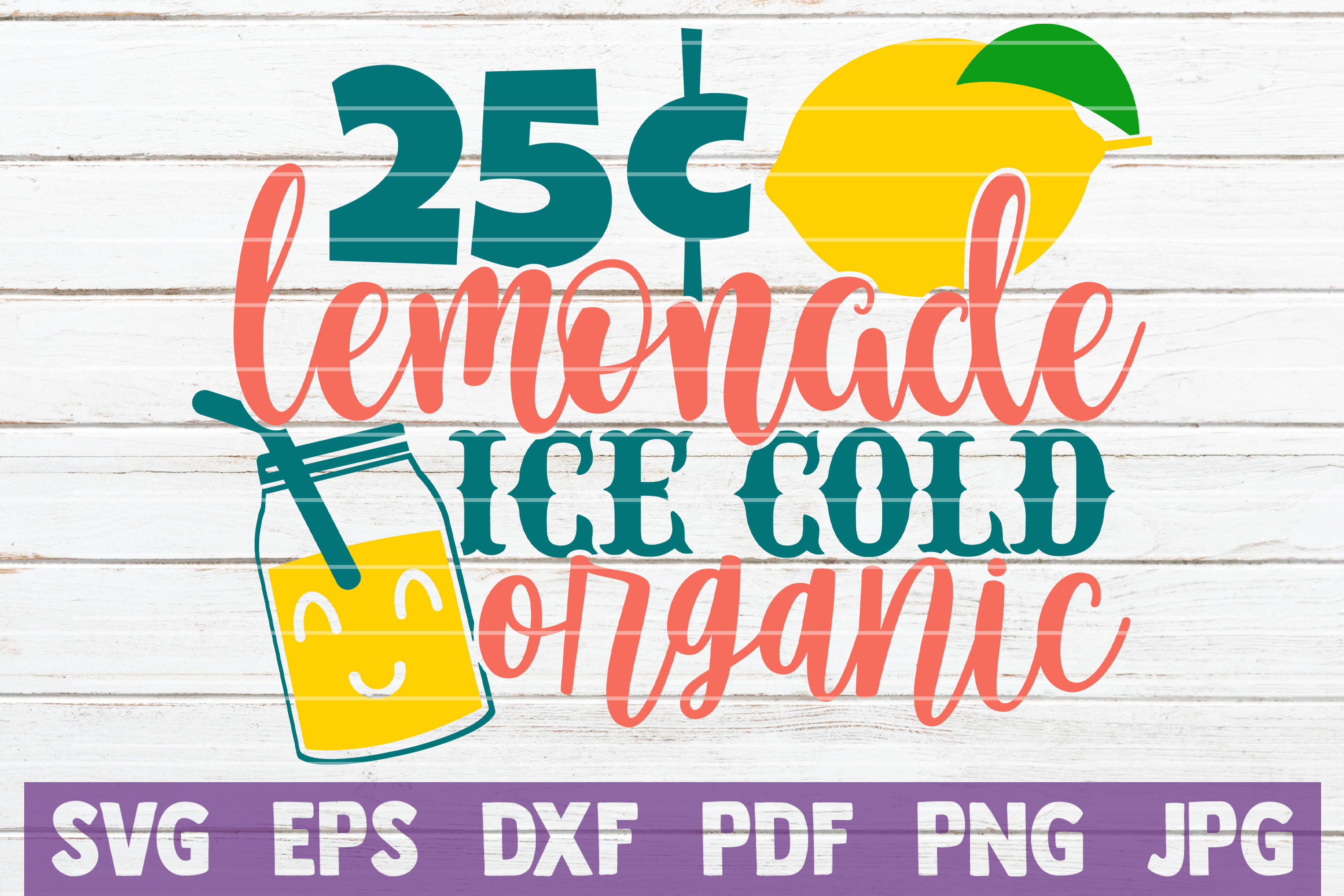 Download Free Lemonade Ice Cold Organic Graphic By Mintymarshmallows for Cricut Explore, Silhouette and other cutting machines.