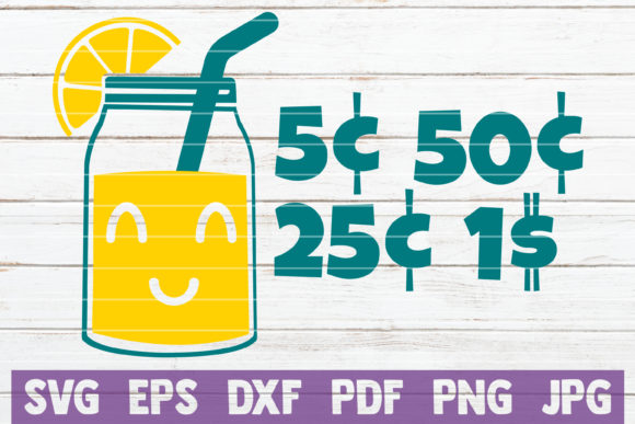Download Free Lemonade Jar With Prices Graphic By Mintymarshmallows Creative for Cricut Explore, Silhouette and other cutting machines.