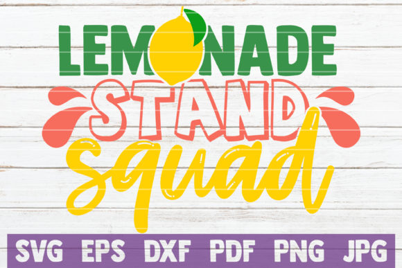 Download Free Lemonade Stand Squad Graphic By Mintymarshmallows Creative Fabrica for Cricut Explore, Silhouette and other cutting machines.