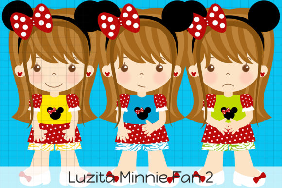 Download Free Luzita Minnie Fan 2 Graphic By Dolls To Go Creative Fabrica for Cricut Explore, Silhouette and other cutting machines.