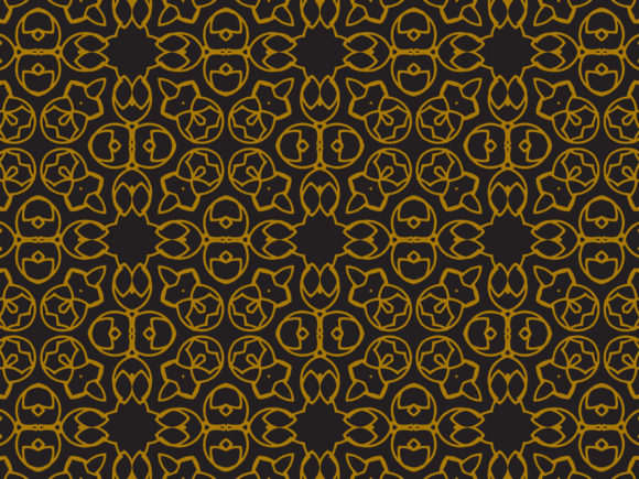 Download Free Pattern Gold Flower And Ellipse Motifs Graphic By for Cricut Explore, Silhouette and other cutting machines.