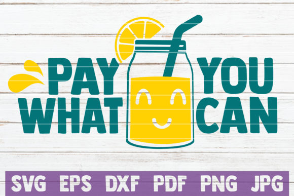 Download Free Pay What You Can Graphic By Mintymarshmallows Creative Fabrica for Cricut Explore, Silhouette and other cutting machines.