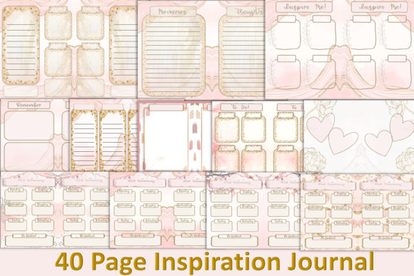 Download Free Printable Journal Kit Free Ephemera Graphic By The Paper for Cricut Explore, Silhouette and other cutting machines.