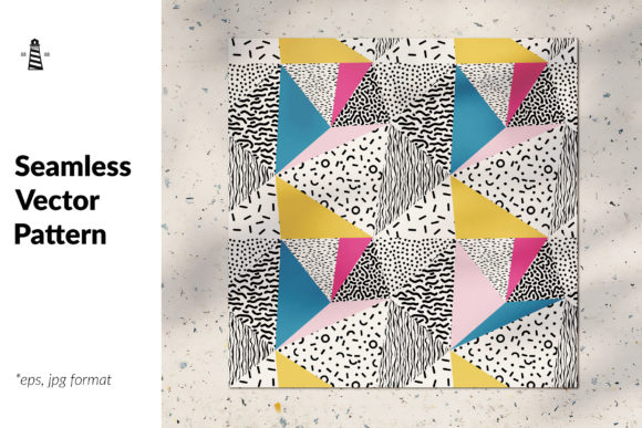Print on Demand: Simple Shapes Seamless Pattern Graphic Patterns By northseastudio