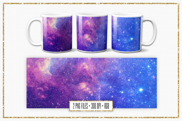 Print on Demand: Space Sublimation Mug Design Graphic Print Templates By Sabina Leja