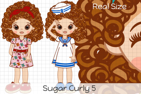 Download Free Sugar Curly 5 Graphic By Dolls To Go Creative Fabrica for Cricut Explore, Silhouette and other cutting machines.