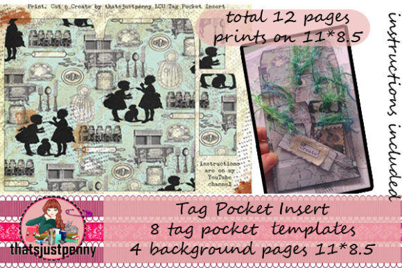 Tag Pocket Insert Print  Graphic Crafts By thatsjustpenny