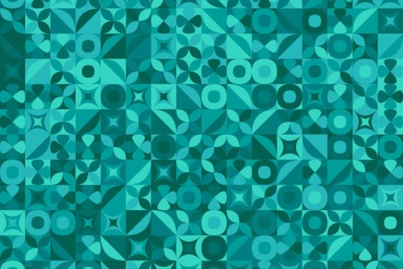 Teal Mosaic Pattern Background Graphic Backgrounds By davidzydd