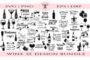 Print on Demand: Wine Quotes Graphic Crafts By Kate_Studio