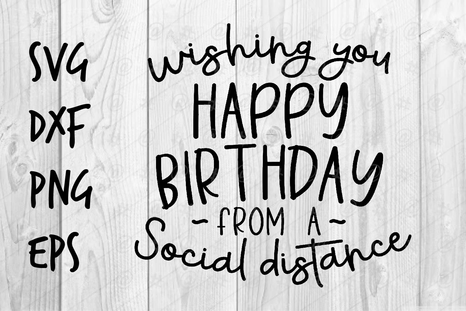 Download Free Wishing You Happy Birthday Graphic By Spoonyprint Creative Fabrica for Cricut Explore, Silhouette and other cutting machines.