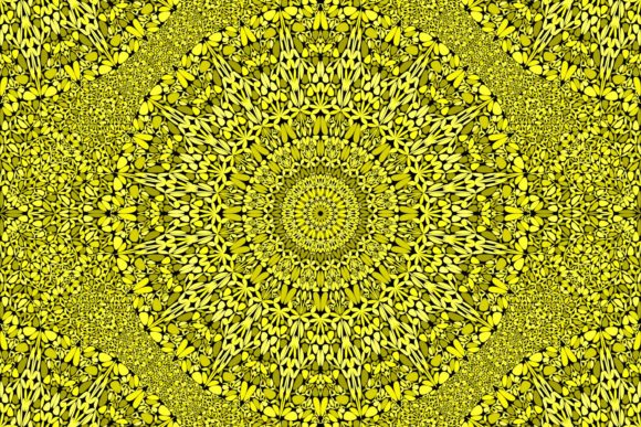 Download Free Yellow Seamless Floral Mandala Pattern Graphic By Davidzydd for Cricut Explore, Silhouette and other cutting machines.