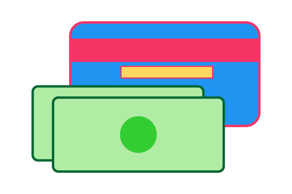 Download Free An Account Card And Several Bills Graphic By Yapivector for Cricut Explore, Silhouette and other cutting machines.